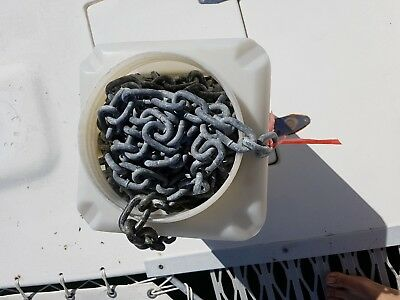 8mm Galvanised Anchor chain approx 37meter lenth