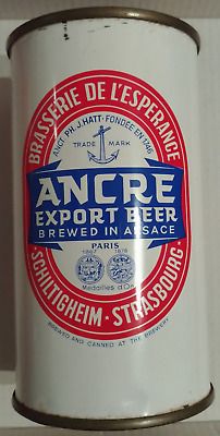 Ancre flat top beer can from France