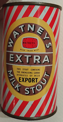 Watneys Extra Milk Stout Export instructional flat top beer can from UK