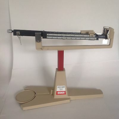 Ohaus Cent-O-Gram balance 311g scale w suspended missing Pan & metal tray USED