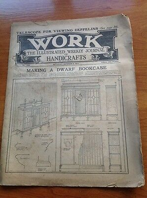 Work The Illustrated Weekly Journal of Handicrafts 9th Oct 1915 Vintage magazine