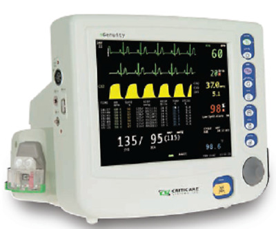 Criticare nGenuity Patient Monitor 8100EP1 w/ CO2 and a Printer