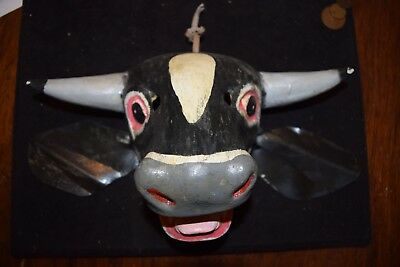 Vintage Bull / Cow Mask folk art