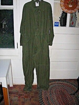 Vintage Us Army Olive Green Cotton Sateen Type 1 Uniform Coveralls - Xl