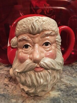 Mint 1983 Royal Doulton Santa Claus D6704 Large Toby Jug Mug Pitcher 7 1/2""