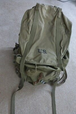 WWII 1943 US Army Back Pack With Frame