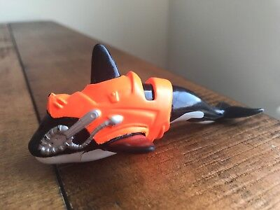 "Unique 4"" x 1.5"" Killer Whale w/ Orange Vest PVC Toy Figure"