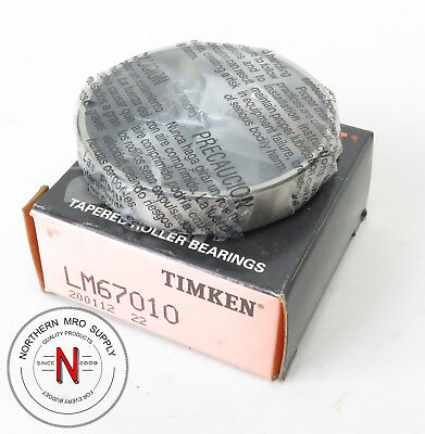 """Timken Lm67010 Tapered Roller Bearing Cup, Od: 2.328"""", Width: .465"""""""