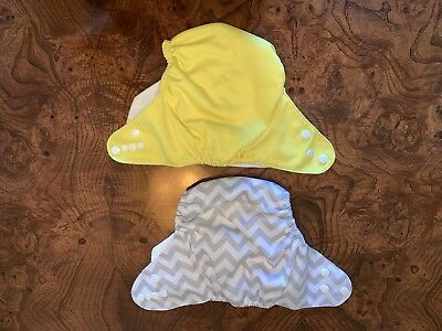 Set Of 2 Unbranded Cloth Diapers With Snap Closures, One Size