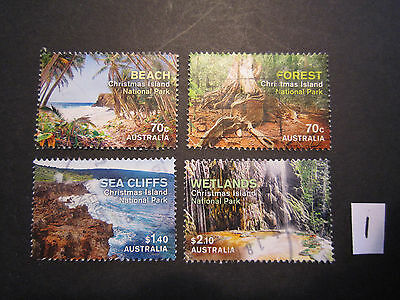 No-2---2014   CHRISTMAS  ISLAND  NATIONAL  PARK    4  STAMPS  -USED--F/S -- A1