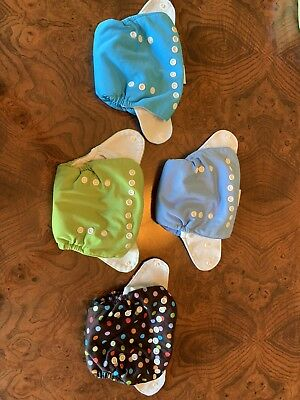 Thirsties One Size All In One Cloth Diaper Snap, Lot Of 4