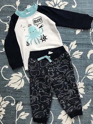 Gymboree Baby 12-18 Months Boys Octopus Set New