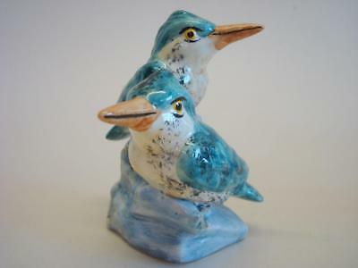 Vintage Stangl Pottery Figurine with Pair of King Fisher Birds