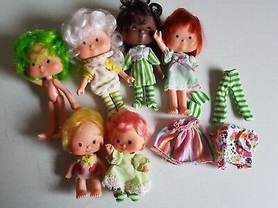 Vintage Lot of Strawberry Shortcake Dolls Figures 1979 and 1981 American Greetin