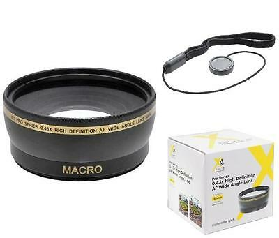Xit 58mm Wide Angle Lens for Samsung NX2000 NX300 NX30 NX20 NX11 NX10 18-55mm