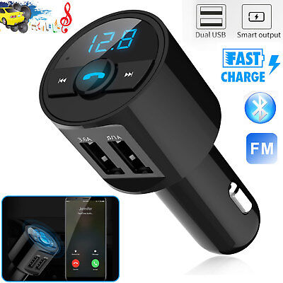 3.6A Wireless Bluetooth Car USB Charger FM Transmitter Radio Adapter MP3 Player