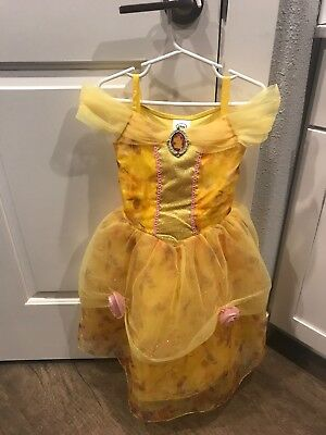 DISNEY COLLECTION BELLE/BEAUTY & THE BEAST YELLOW COSTUME DRESS SIZE 4 Toddler