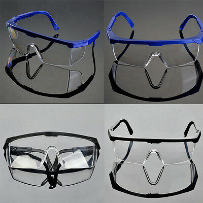 Actual Safety Eye Protection Clear Lens Goggles Glasses From Lab Dust Paint LH
