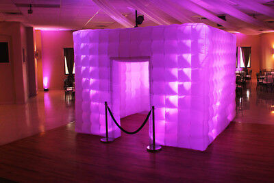 2 Door 2.5M Inflatable LED Light Photo Booth Tent Party Birthday Wedding