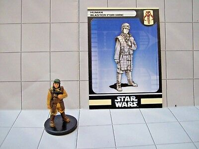 WotC Star Wars Miniatures Human Blaster-for-Hire, Bounty Hunters 35/60, Frng, Cm