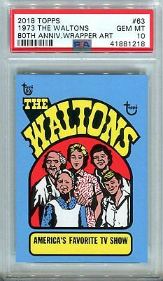 2018 Topps 80th Anniversary Wrapper Art #63 ~ 1973 The Waltons /220 ~ PSA 10 GEM