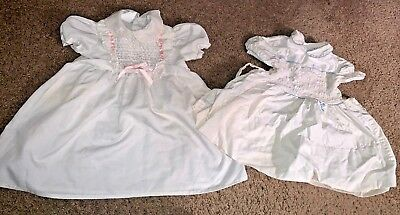 polly flinders hand smocked size T4 & T2 dresses Polly flinders dress RARE