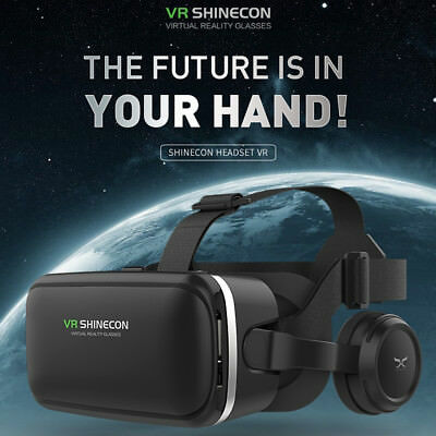 AU! 3D Virtual Reality 3D SHINECON 360°VR Movie Game Glasses For Samsung iPhone