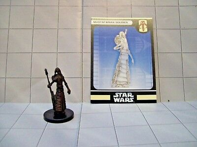 WotC Star Wars Miniatures Mustafarian Soldier, Bounty Hunters 42/60, Frng, Com