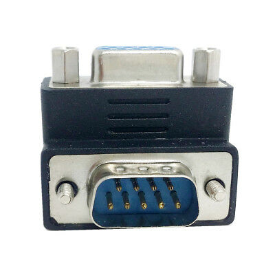 Xiwai Down & UpAngled 90 Degree RS232 D-Sub 9 Pin Male Female Extension Adapter