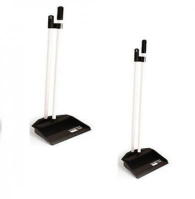 Long Handled Dustpan and Brush Set Dust Pan and Broom Up Right Sweeping Aid New