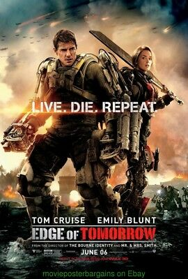 EDGE OF TOMORROW MOVIE POSTER Mint DS 27x40 Final TOM CRUISE EMILY BLUNT