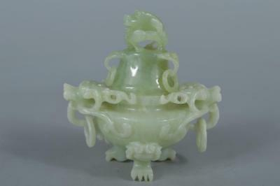 R8610: Chinese Stone Beast sculpture Lion-shaped INCENSE BURNER Tea Ceremony