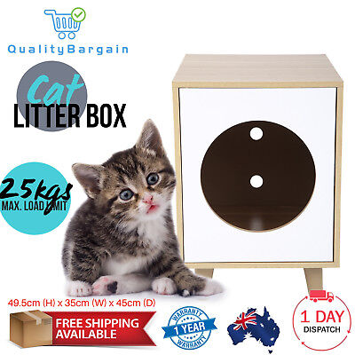 Cat Litter Box Pet House Toilet Potty Training Cave Bed Cabinet Furniture Dome