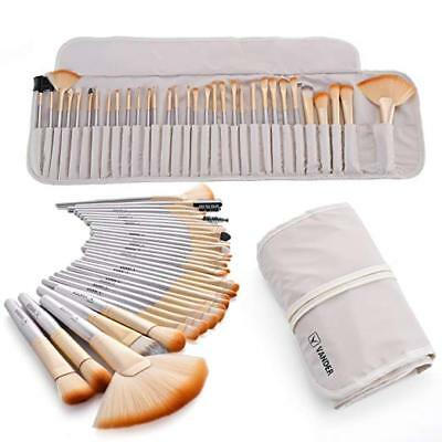 VANDER 32pcs Makeup Brushes Set Professional Cosmetic Eyebrow Shadow Champagne