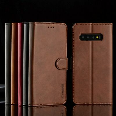 For Samsung Note8 S9 S8 S7 A5 J5 Premium Leather Wallet Flip Magnetic Case Cover