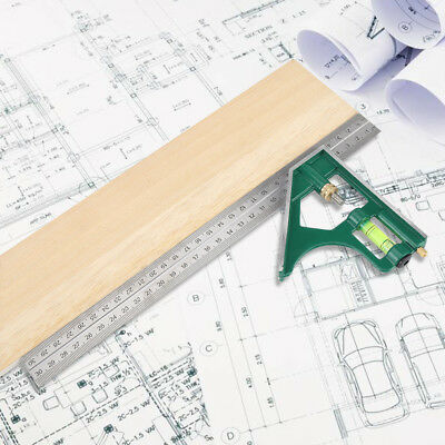 Combination Set Square 300mm 45/90 Degree Angle Ruler Stainless Steel Ruler gbd