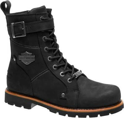 Harley Davidson Mens Wickson Leather Motorcycle Boots D93489