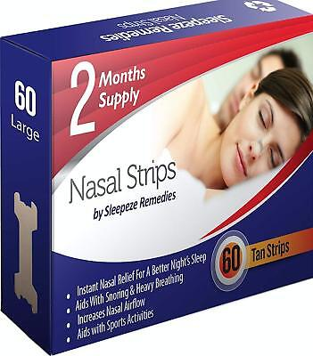 Nasal Strips Large x60 By Sleepeze Remedies | Nose Strips To Stop Snoring