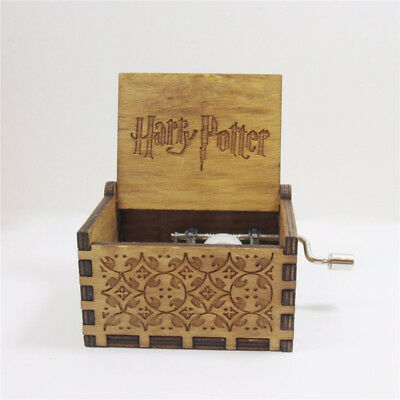 Harry Potter  Music Box Interesting Toys Music Box Engraved Wooden Xmas Gifts US
