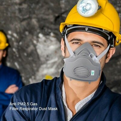 New 3 in1 Suit For 3M 3200 N95 PM2.5 Gas Protection Filter Respirator Dust Mask
