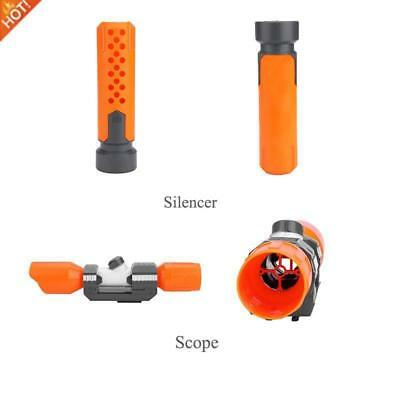 Plastic Scope Sight/Silencer Attachment with Reticle Accessory Nerf Modify Toy~