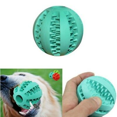 Pet Puppy Dog Ball Chew Teething Treat Clean Bite Durable Training Rubber Toys