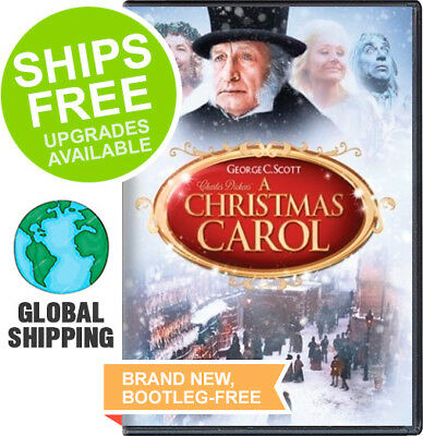 Christmas Carol (DVD, 1984) NEW, George C Scott, Frank Finlay, Charles Dickens