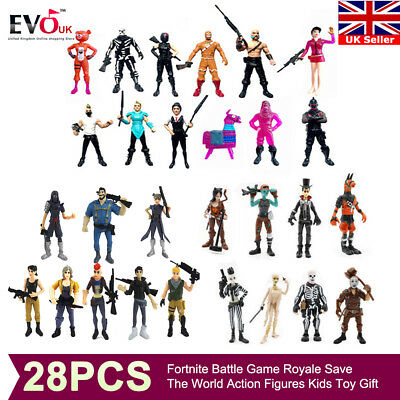 28Pcs Fortnite Battle Game Royale Save The World Action Figures Kids Toy Gift