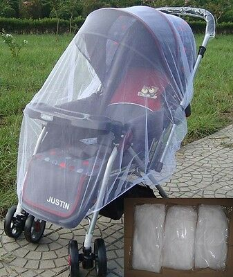 Universal Stroller Pram Baggy Carry Cot Insect Mosquito Net Safe Mesh Cover New