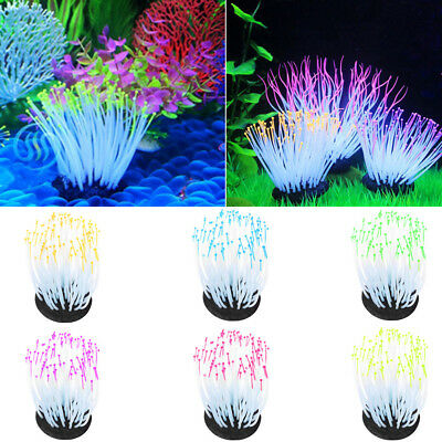 Hot Silicone Aquarium Fish Tank Artificial Coral Plant Underwater Ornament Decor