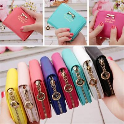 Women Bowknot Small Coin Purse Card Zipper Wallet Holder Mini Bag Clutch 8C