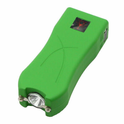 Red Scorpion Rechargeable Stun Gun Green Police LED Flashlight 53 Billion Volts