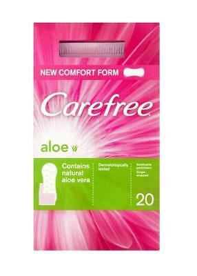 Carefree Airflow Aloe Vera Panty Liners 20 pack x 3 MULTI-BUY  Soft 3D Comfort