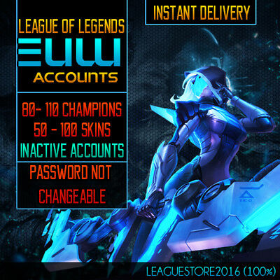 League of Legends Account EUW Unranked Lvl 30 LoL Acc | All Champs Skins Listed